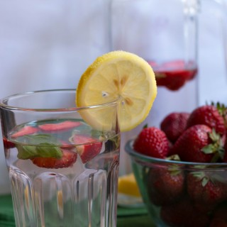 Mango Starwberry Basil Infused Water